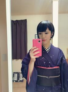 kimito,植木未斗,帯留,着物,コーディネート,日本橋,七福神巡り