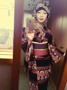 kimito,帯留,七宝焼,着物コーディネート,着物,赤,モリタマミ,(2)
