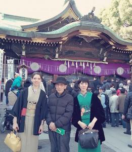 kimito,帯留め,七宝焼,着物コーディネート,お正月,初詣,2