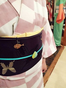 kimito,コーディネート,着物,帯留,七宝焼c