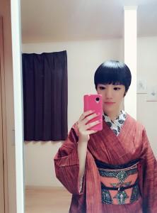 kimito,帯留,七宝焼,着物,kimono,コーディネート