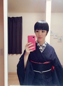 kimito,着物,帯留,コーディネート,七宝焼