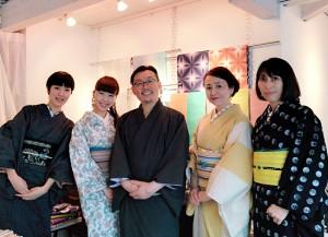 kimito,音色展,七宝焼,着物,表参道,ペリーハウス