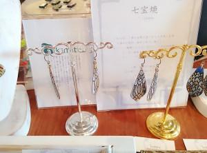 帯留,kimito,耳飾り,七宝焼,ピアス