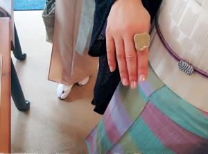 kimito,着物,帯留,七宝焼,着物コーディネート,帯留コーディネート,4