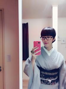 kimito,帯留,キモノ,着物,七宝焼,着物コーディネート,眼鏡,メガネb