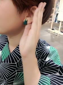 kimito,帯留,着物,和装,七宝焼,コーディネートh